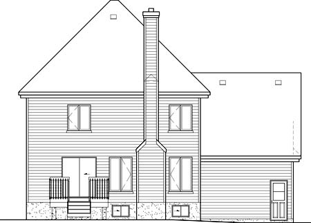 Tudor House Plan 49639 Rear Elevation