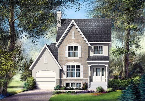 House Plan 49641 Elevation