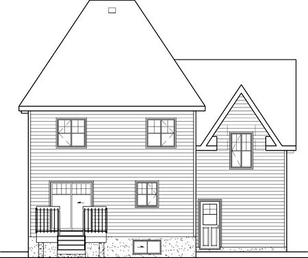 Victorian House Plan 49643 Rear Elevation