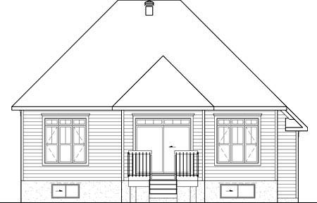 House Plan 49644 Rear Elevation