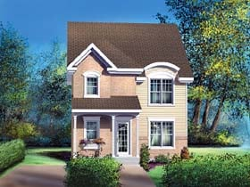 Traditional House Plan 49646 with 3 Beds, 2 Baths Elevation