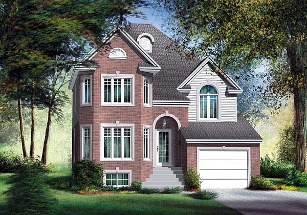 European House Plan 49647 Elevation