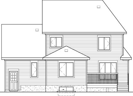Victorian House Plan 49649 Rear Elevation