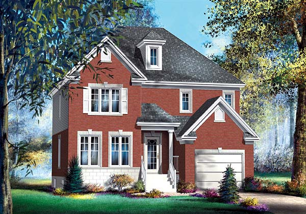 House Plan 49650 with 4 Beds, 3 Baths, 1 Car Garage Elevation