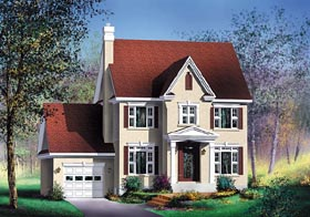 Colonial House Plan 49653 Elevation