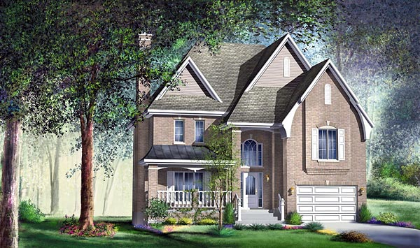 European House Plan 49655 Elevation