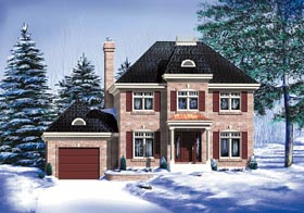 Colonial House Plan 49656 Elevation
