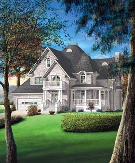 Victorian House Plan 49657 Elevation