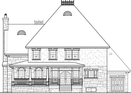 Victorian House Plan 49657 Rear Elevation