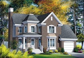 Victorian House Plan 49658 with 3 Beds, 2 Baths, 1 Car Garage Elevation