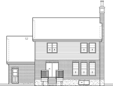 Victorian House Plan 49658 Rear Elevation