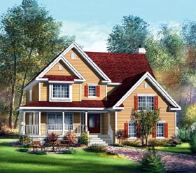 Country House Plan 49659 Elevation