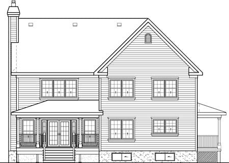 Country House Plan 49659 Rear Elevation