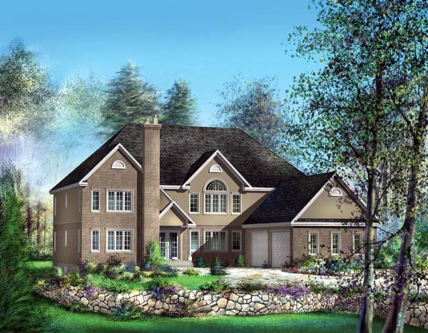 European House Plan 49661 Elevation
