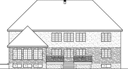 European House Plan 49661 Rear Elevation