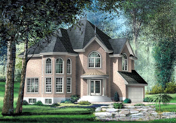 Victorian House Plan 49662 Elevation