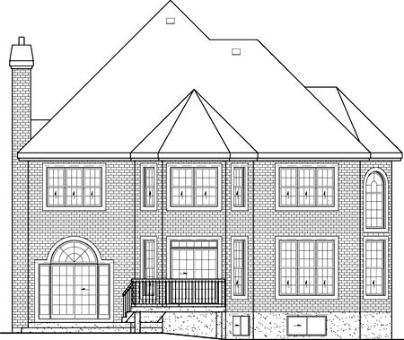 Victorian House Plan 49662 Rear Elevation