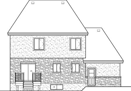Victorian Rear Elevation of Plan 49665