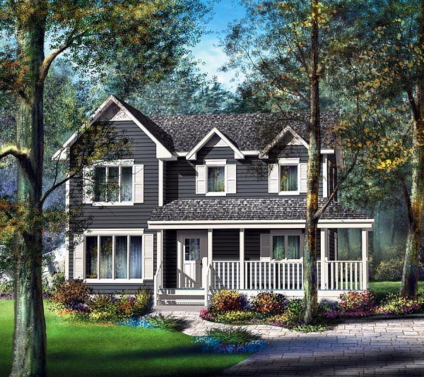Country House Plan 49666 Elevation