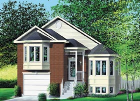 Traditional House Plan 49667 with 3 Beds, 1 Baths, 1 Car Garage Elevation