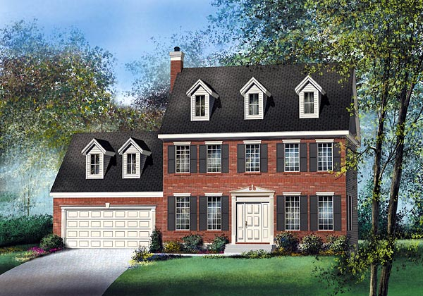Colonial House Plan 49668 Elevation