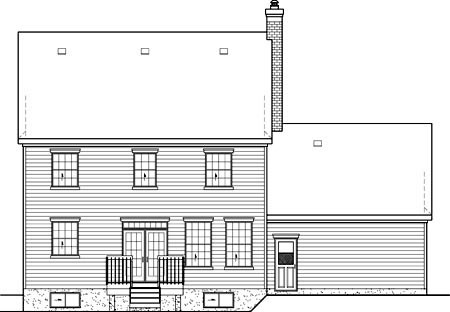 Colonial House Plan 49668 Rear Elevation