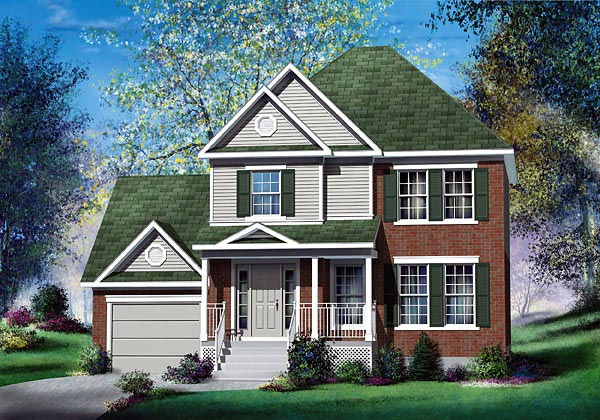 European House Plan 49669 Elevation