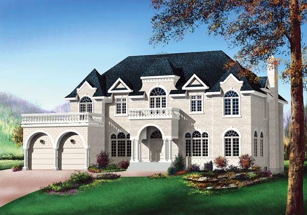 European House Plan 49671 Elevation