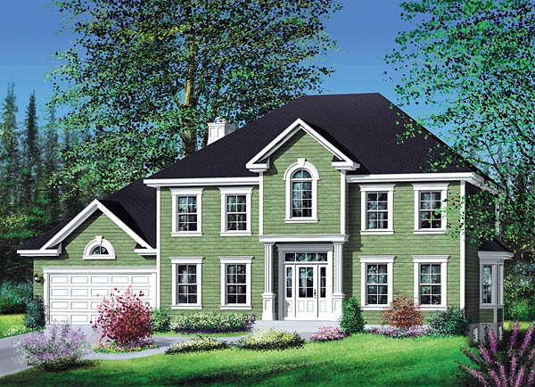 Colonial House Plan 49672 Elevation