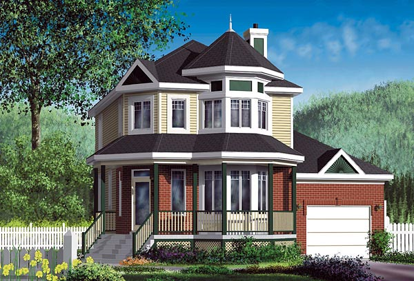 Victorian House Plan 49673 Elevation