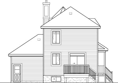 Victorian House Plan 49673 Rear Elevation