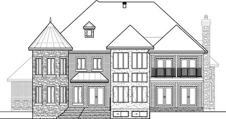 Victorian House Plan 49678 Rear Elevation
