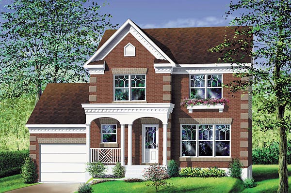 Colonial House Plan 49679 Elevation
