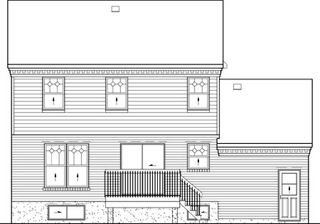 Colonial House Plan 49679 Rear Elevation
