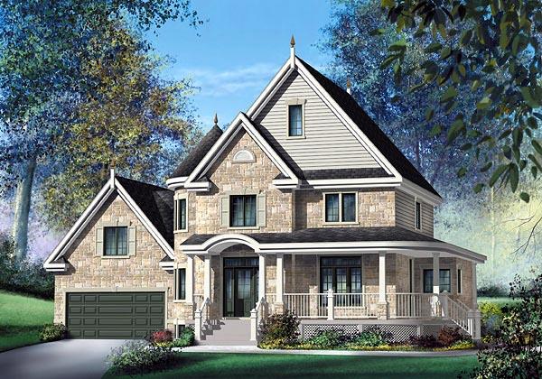 Victorian House Plan 49680 Elevation