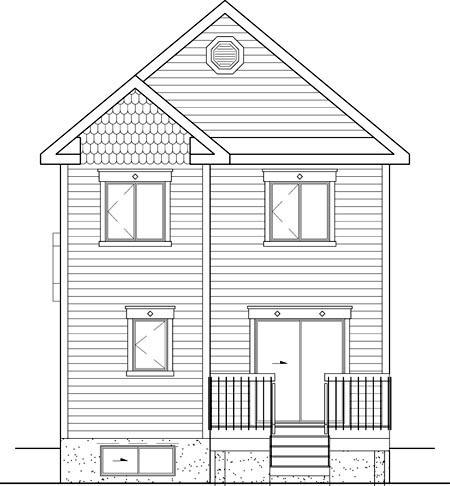 Craftsman House Plan 49681 Rear Elevation