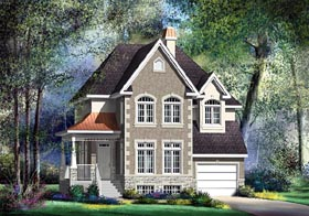 Victorian House Plan 49683 with 3 Beds, 2 Baths, 1 Car Garage Elevation