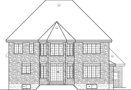 House Plan 49684 | Victorian Style Plan with 3385 Sq Ft, 4 Bedrooms, 3 Bathrooms, 2 Car Garage Rear Elevation
