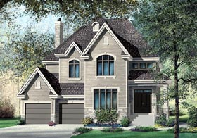 European House Plan 49685 Elevation