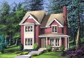 House Plan 49686 | Traditional Style House Plan with 1570 Sq Ft, 3 Bed, 2 Bath, 1 Car Garage Elevation