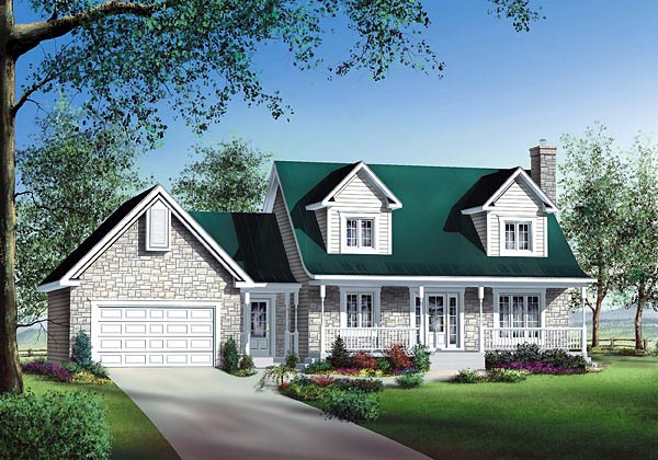 Cape Cod House Plan 49688 Elevation