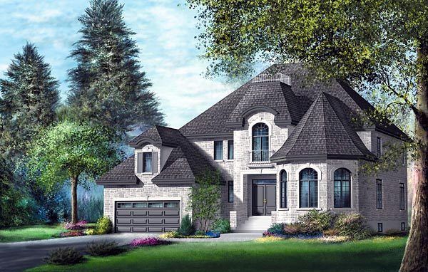 Victorian House Plan 49689 with 5 Beds, 4 Baths, 2 Car Garage Elevation
