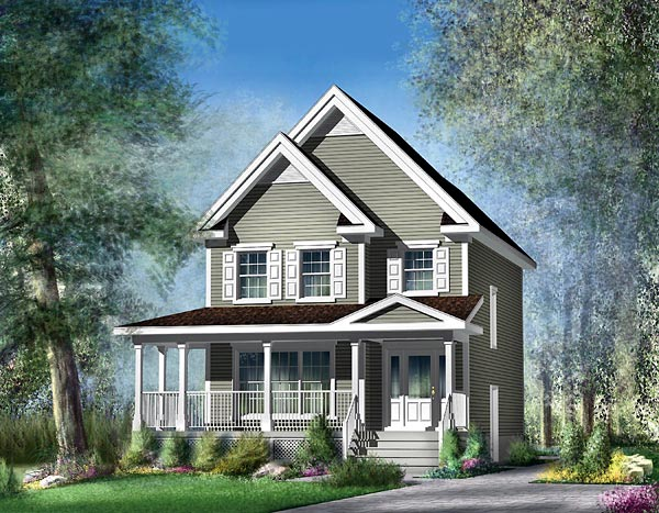 Country House Plan 49693 Elevation