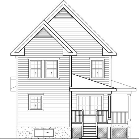 Country House Plan 49693 Rear Elevation