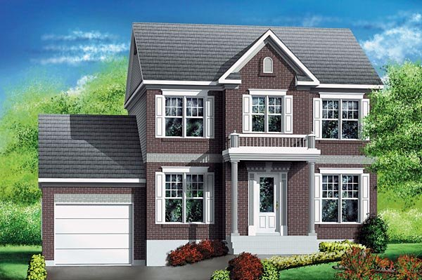 Colonial House Plan 49695 Elevation