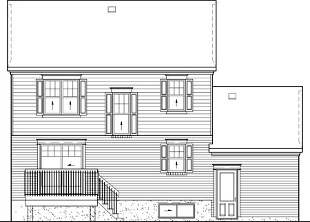 Colonial House Plan 49695 Rear Elevation