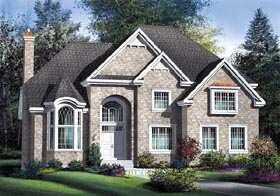 European House Plan 49696 Elevation