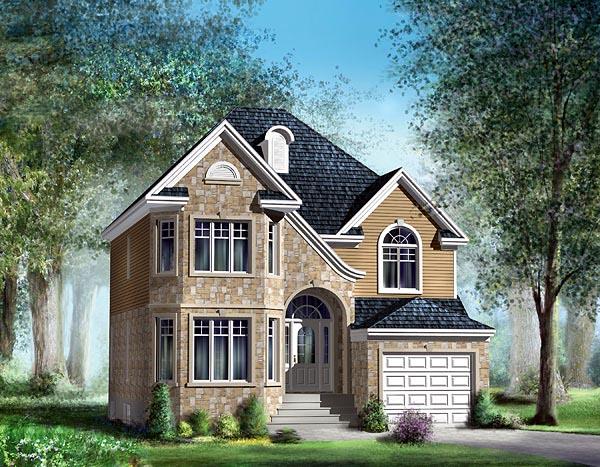 European House Plan 49697 Elevation