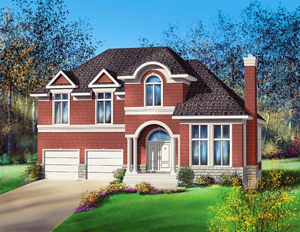Colonial House Plan 49700 Elevation