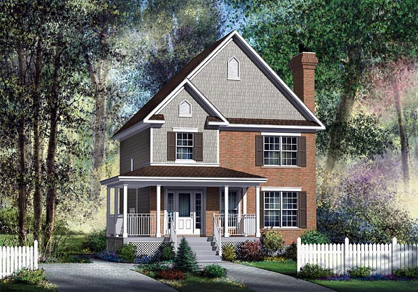 Craftsman House Plan 49701 Elevation